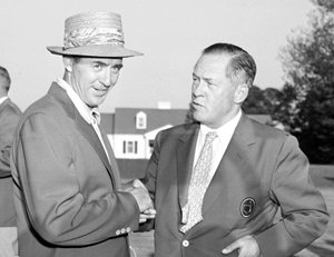 Sam Snead with Bobby Jones (Photo by AP Photo)