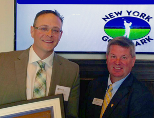 Receiving the 2016 Youth Player Development Junior Golf Leader award from the NENY PGA.