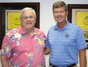 Harrison with Tom Addis III, CEO/Executive Director of the Southern California PGA.