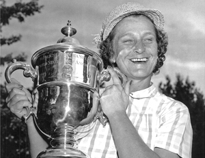 The Babe after winning the U.S. Women's Open
